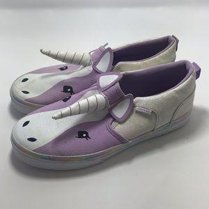 Vans Unicorn slip on girls shoes SZ:5.5